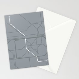 London Underground Jubilee Line Route Tube Map Stationery Cards