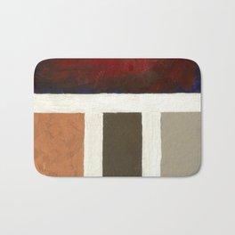 Textured Cubism -Modern Art - Office Art - Hospitality Art Bath Mat