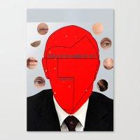 putin Canvas Prints featuring Putin-Quiz  by Alessandro De Vita