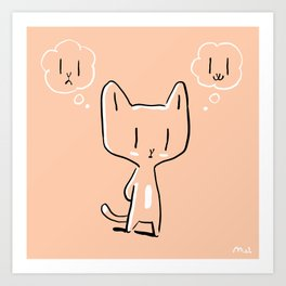 Mixed feelings Art Print