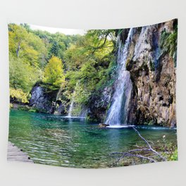 Waterfall in Croatia Large Wall Tapestry