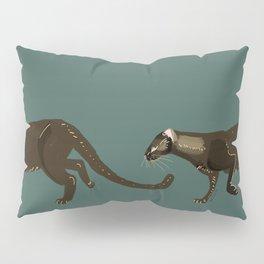Carnivores of World: Jagouaroundi on blue (c) 2017 Pillow Sham