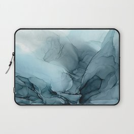Blue Ocean Fog Calming Abstract Laptop Sleeve