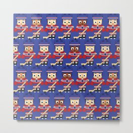 Super cute sports stars - Ice Hockey Blue and Red Metal Print