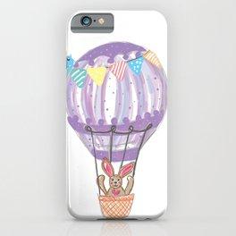 Bunny in ballon iPhone Case