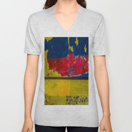 Blue, Red and Yellow Unisex V-Neck