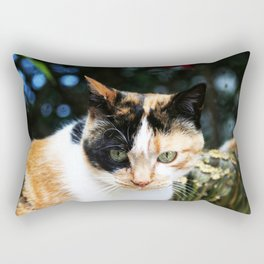 Sweet Cat Portrait Rectangular Pillow