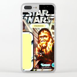 Chewbacca Vintage Action Figure Card Clear iPhone Case