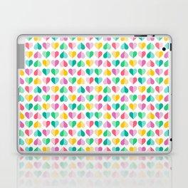 Large Pastel Love Hearts Laptop & iPad Skin