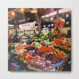 Market in Fremantle, WA, Australia Metal Print