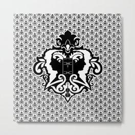 Detective's Damask Metal Print