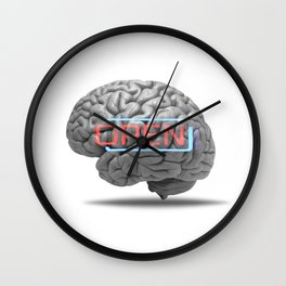 Open mind Wall Clock
