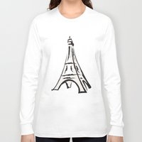 french Long Sleeve T-shirts featuring French by jssj