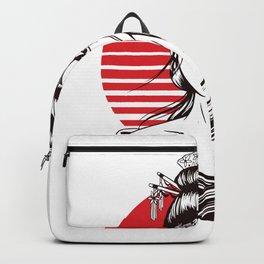 Japanese geisha woman Backpack