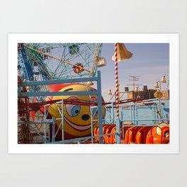 coney island fairground Art Print