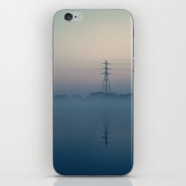 Foggy Morning At Chasewater iPhone Skin