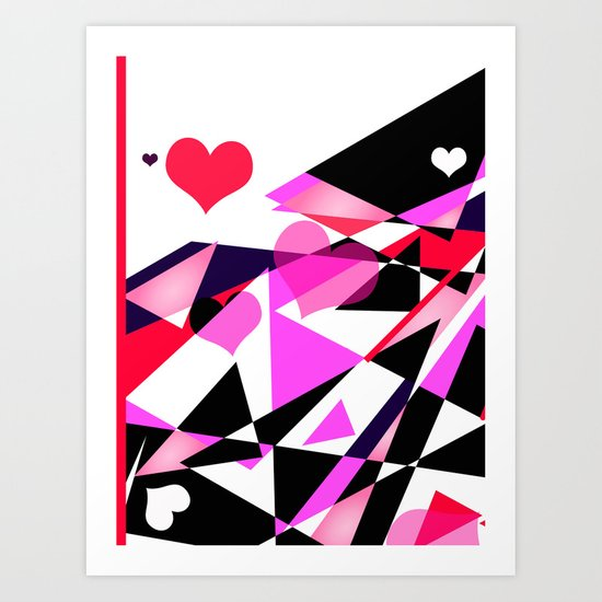 Single Track to Love 1 Art Print