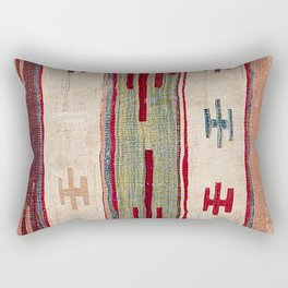 Arcade Star Kilim // 17th Century Colorful Muted Lime Green Southwest Cowboy Ornate Accent Pattern Rectangular Pillow