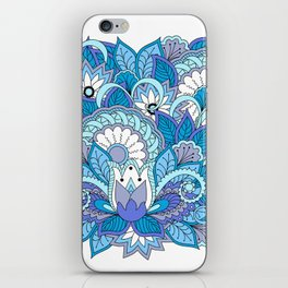 blue zen composition with lotus 1 iPhone Skin