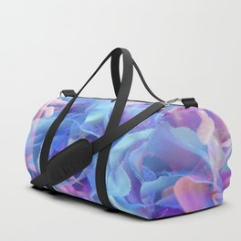 blooming blue rose texture abstract background Duffle Bag