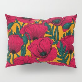 Red poppy garden    Pillow Sham