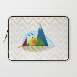 075 - Autumn leaf minimal landscape III Laptop Sleeve