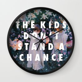 Lilies Don't Stand A Chance Wall Clock