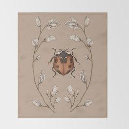 The Ladybug and Sweet Pea Throw Blanket