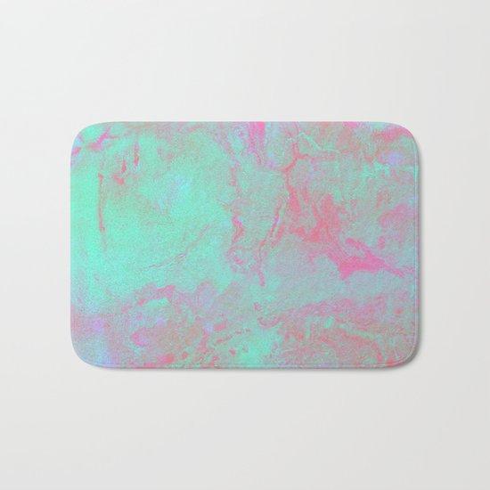 Teal Pink Bath Mat