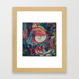 Mermaid Transformation Framed Art Print