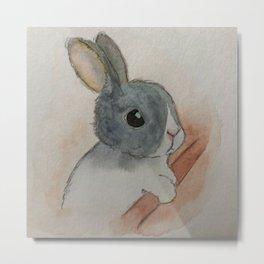 Sad Bunny Metal Print