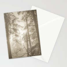 Nature Forest - Vintage Sepia Trees Stationery Cards