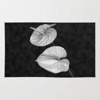 kafka Area & Throw Rugs featuring Zwei Blumen im Raum by See Kevin Design