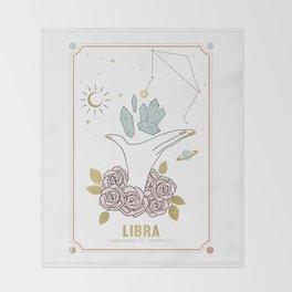 Libra Zodiac Series Throw Blanket