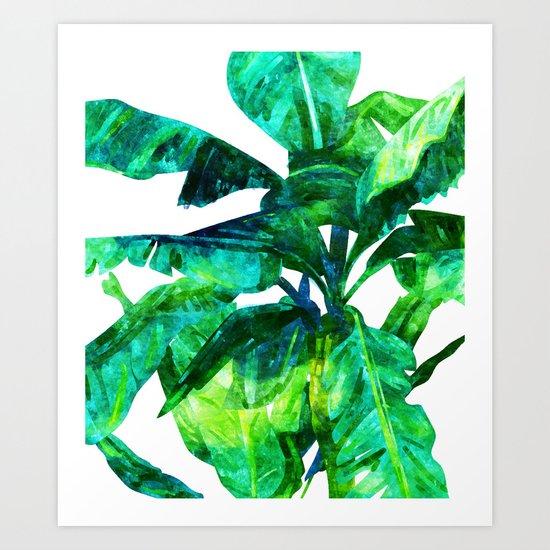Banana Leaves #society6 #decor #buyart Art Print