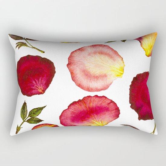 Rose Petal Pattern 01 Rectangular Pillow