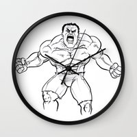 hulk Wall Clocks featuring Hulk by Carrillo Art Studio