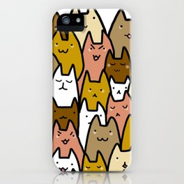 A cat lady's soul (normal) iPhone Case