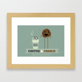 COFFEE & COOKIE Framed Art Print