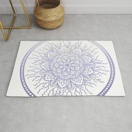 Lavender Nature Mandala Rug