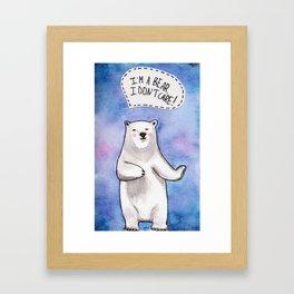 Careless bear Framed Art Print