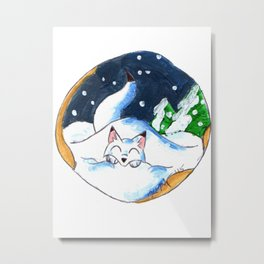 Frosty Fort Metal Print