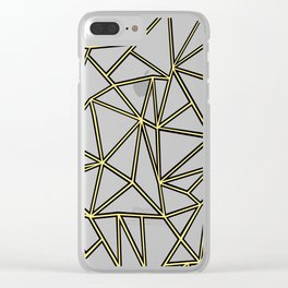 Ab Blocks White Gold Clear iPhone Case