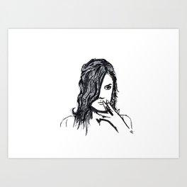 Girls don't cry Art Print