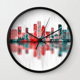 Kinshasa DR Congo Skyline Wall Clock