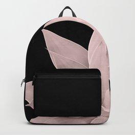 Blush Agave on Black #1 #tropical #decor #art #society6 Backpack