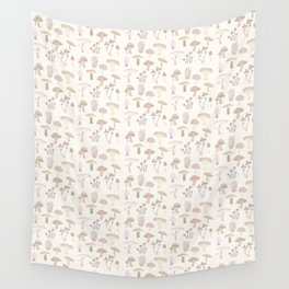 Champignons pattern Wall Tapestry