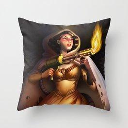 Miss Muffet Throw Pillow
