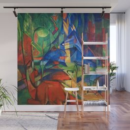 """Franz Marc """"Deer in the Forest II"""" Wall Mural"""