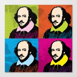 WILLIAM SHAKESPEARE (4-UP POP ART COLLAGE) Canvas Print